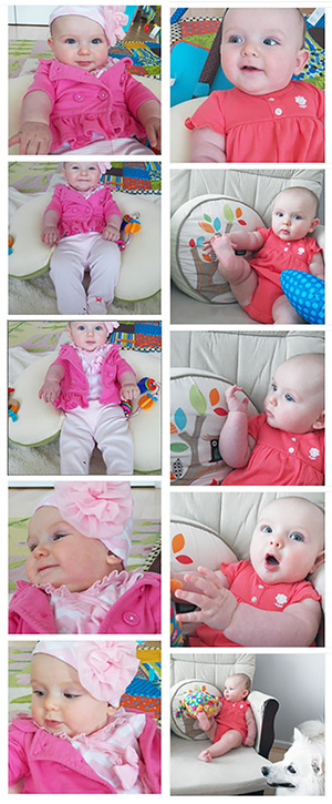 Esther at six months